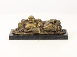Bronzen beeld de Lachende Boeddha