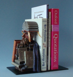 Bibliotecario, boekensteun Portret van Wolfgang Lazius