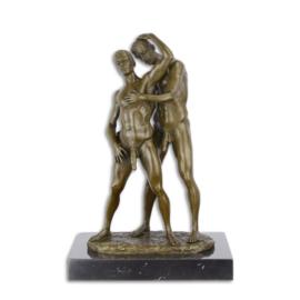 erotisch bronzen koppel van twee gay / homo mannen