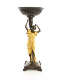 Prachtige bronzen verguld beeld