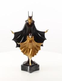 Een prachtig brozenbeeld van Satanella dansers