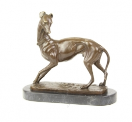 Bronzen beeld van een faraohond