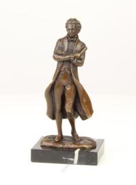 Klassiek Bronzen beeld van de schrijver.
