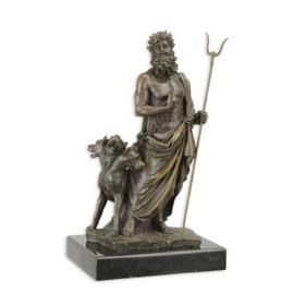 Brons Standbeeld van Hades en Cerberus