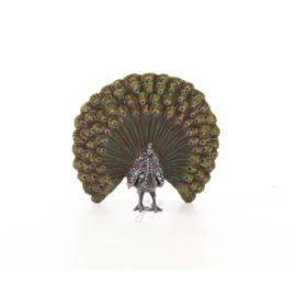 Een Weense stijl bronzen beeld van een pauw