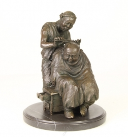 Bronzen Chinese barber