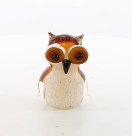 Murano Glazen beeldje van een uil