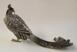 Porseleinen fazant afgewerkt met brons
