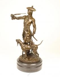 Bronzen beeld genaamd Louis xv