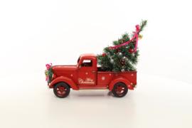 Blikken Amerikaanse pick up truck in kerst stijl