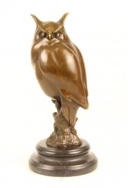 Bronzen beeld van een uil