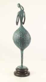 Gedetailleerd abstract Bronzen vrouw