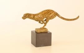 Bronzen  beeld rennende poëma