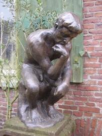 bronzen beeld ´de denker´naar August Rodin