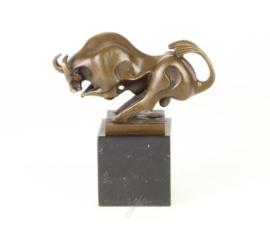 Brons Art Deco beeld van een stier