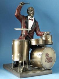 jazz muzikant op de drums