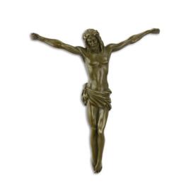 Bronzen muur beeldje van jezus christus