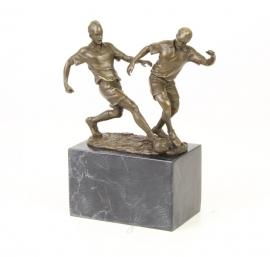Bronzen voetballers