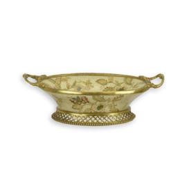 Prachtige bronzen porseleinenschaal