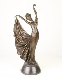 Bronzen oosterse danseres art decostyle