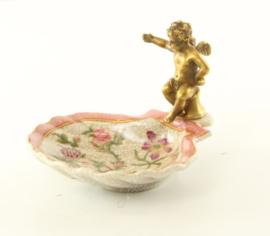 Mooie bronzen porseleinen zeephouder