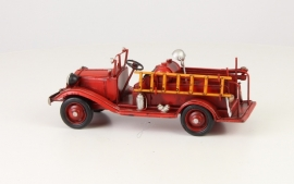 Tinnen brandweerwagen