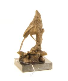 Brons beeld van een kardinaal vogel