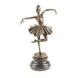 Bronzen beeld ballerina meisje