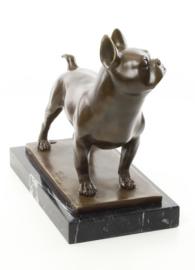 beeldje Franse Bulldog van brons