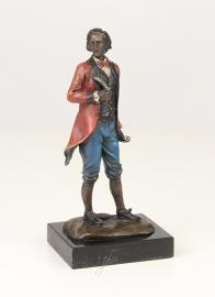Bronzen  beeld van  Wolfgang Amadeus Mozart