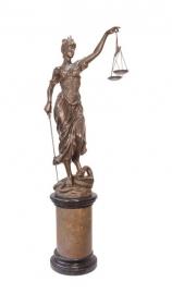 Bronzen beeld van vrouwe Justitia XXL model