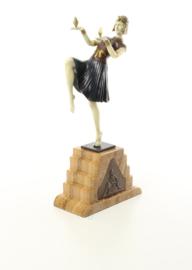 Bronzen Chiparus beeld Nubian danser
