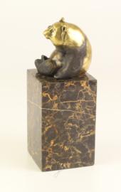 Gedetailleerd Bronzen panda beertje