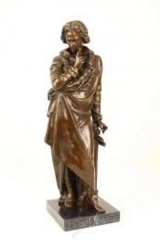 Bronzenbeeld van de meesterlijke klassieke muziek componist Ludwig von Beethoven