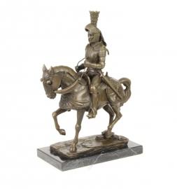 Bronzen beeld van ridder ter paard