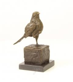 Bronzen beeld van een mus