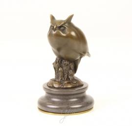Bronzen art Deco moderne uil