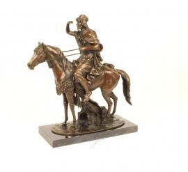 Bronzen beeld van een Arabische ruiter