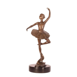 Bronzen beeldje van een ballet danseres