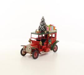Blikken oldtimer truck in kerst stijl