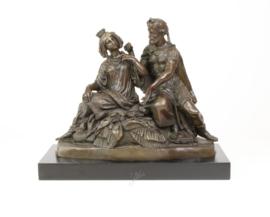 Klassiek Bronzen beeld keizerlijk echtpaar