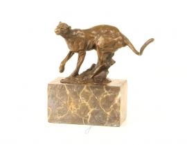 Bronzen Beeldje lopende poema