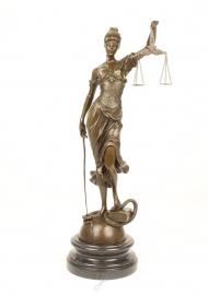 Bronzen Vrouwe Justitia