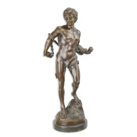 Bronzen beeld van de gebonden slaaf