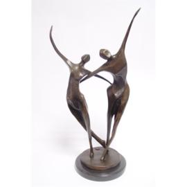 Abstract brons beeld dansend koppel