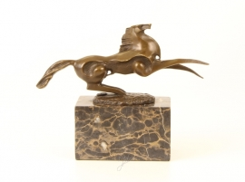 Bronzen abstracte beeld van een paard