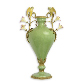 Mooie bronzen porseleinen bloemenvaas
