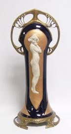 Brons porselein Jugendstil middelpunt