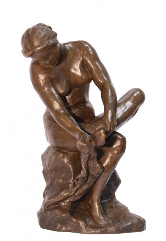 Bronzen dame