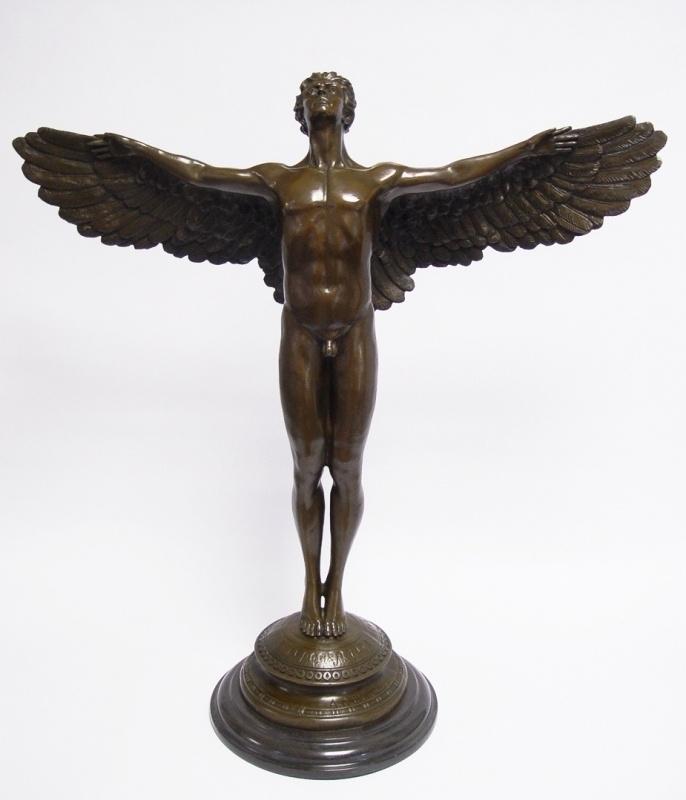 Bronzen beeld genaamd stijgende dag